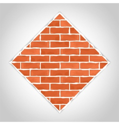Romb made of bricks vector image
