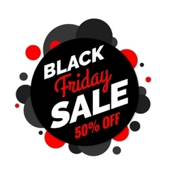 Black Friday sale banner Black and red colors vector image