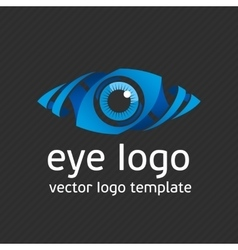 Blue eye logo template vector image vector image