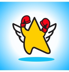 Boxing star sign vector
