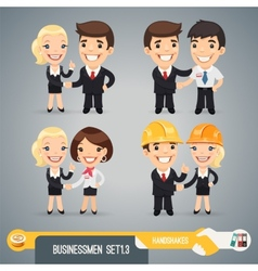 Businessmans Cartoon Characters Set13 vector image vector image