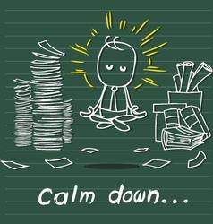 Calm down vector