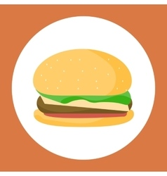 Chicken burger isolated vector