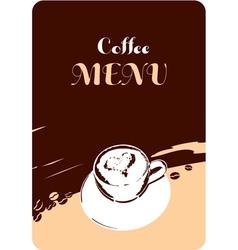 coffee menu template design vector image vector image