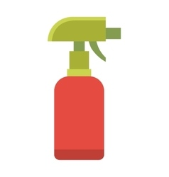 Colorful foggy spray bottle clean plastic hygiene vector image vector image
