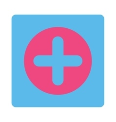 Create flat pink and blue colors rounded button vector