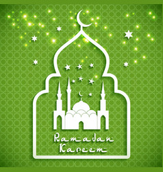 Eid Mibarac abstract background on green vector image vector image