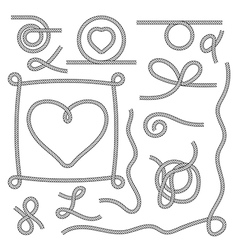 Endless rope texture random shapes vector image
