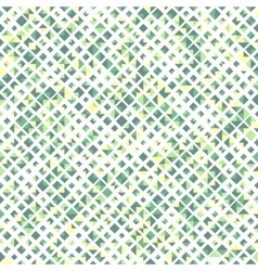 Green color seamless pattern with rhombuses vector image