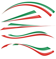 italian flag set vector image