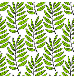 leaves seamless pattern tropical background can vector image vector image