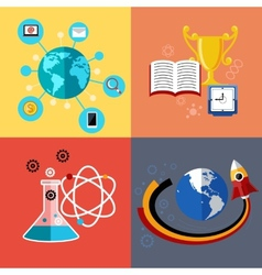 Modern education and science concept vector