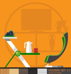 Modern style interior set flat style Digital image vector image vector image