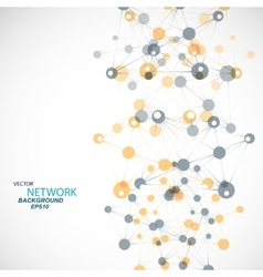 network connection and DNA eps 10 vector image vector image