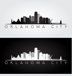 oklahoma city usa skyline and landmarks silhouette vector image vector image