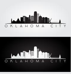 Oklahoma city usa skyline and landmarks silhouette vector