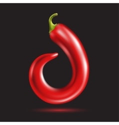 Red pepper letter vector