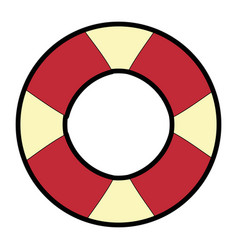 Safety float icon vector