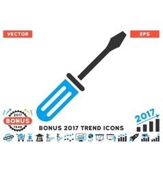Screwdriver flat icon with 2017 bonus trend vector