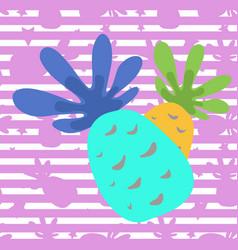 Seamless pineapple pattern vector