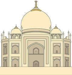 Taj Mahal Agra India vector image vector image