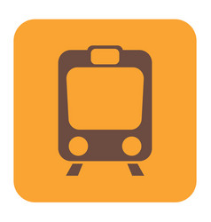 Train icon isolated vector