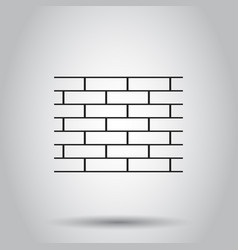 Wall brick stone icon on isolated background vector