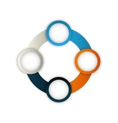 infographic round multicolored data icon vector image