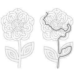 Flower maze vector image