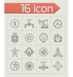 Natural gas icon set vector