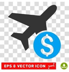 Airplane Price Icon vector image