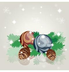 Merry christmas decoration vector