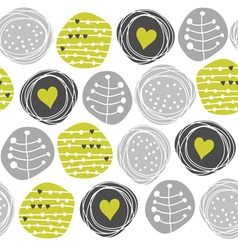 Retro pattern circles vector