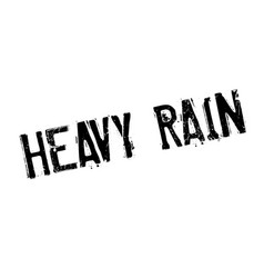 Heavy rain rubber stamp vector