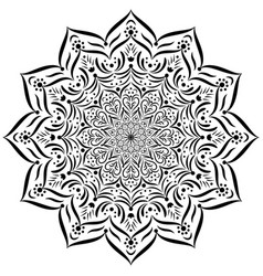 Mandala circular ornament vector
