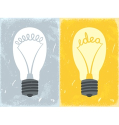 Lightbulb with idea vector image
