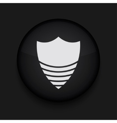 Modern shield black circle icon vector