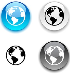 Planet button vector