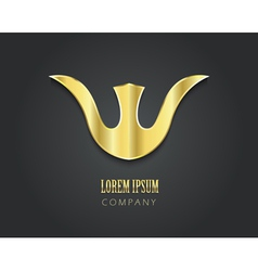 Abstract golden symbol for your company in form of vector