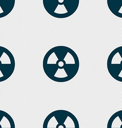 Radiation icon sign seamless pattern with vector