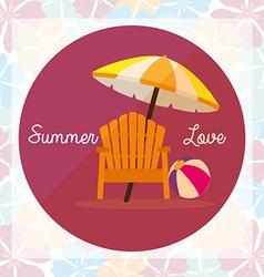 i love summer holidays vector image