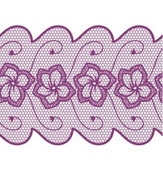 Flower lace seamless border vector