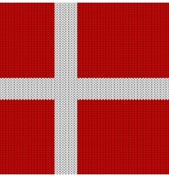Knitted flag of denmark vector