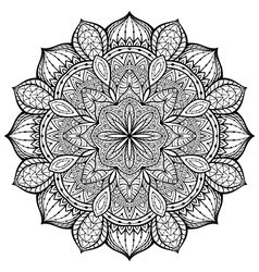 Filigree eastern mandala vector