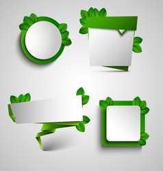 Spring green frame pointer tag design element vector