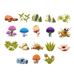 Video game lanscaping collection vector