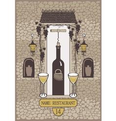 wine wall vector image