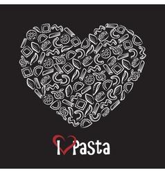 icon of pasta vector image