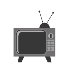 Vintage television  over vector