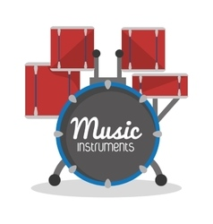Drums icon music instrument graphic vector